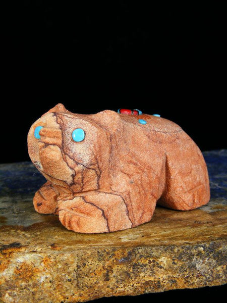 Sandstone Bear Zuni Fetish by Danette Laate - PuebloDirect.com - 1