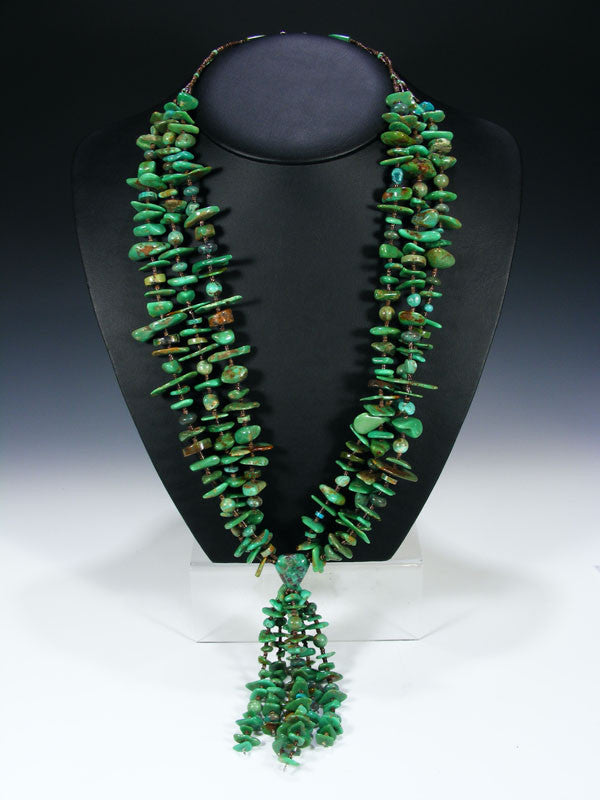 Native American Turquoise Necklace by Helen Tsosie - PuebloDirect.com - 1