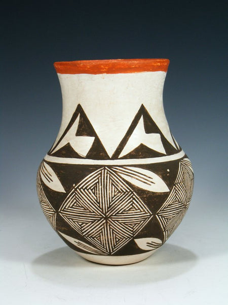 Vintage Acoma Hand Coiled Pottery Vase