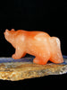 Orange Alabaster Wolf Zuni Fetish by Fred Bowannie - PuebloDirect.com - 3