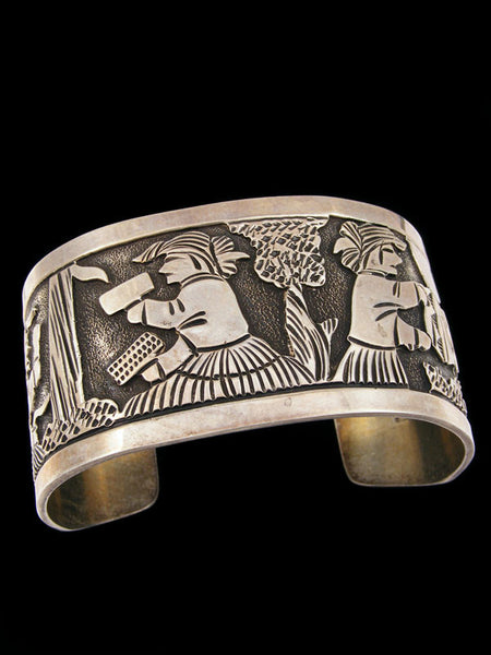 Old Pawn Indian Storyteller Bracelet by Floyd Becenti - PuebloDirect.com - 1