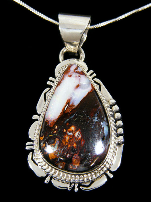 Native American Yoway Wood Replacement Boulder Opal Pendant