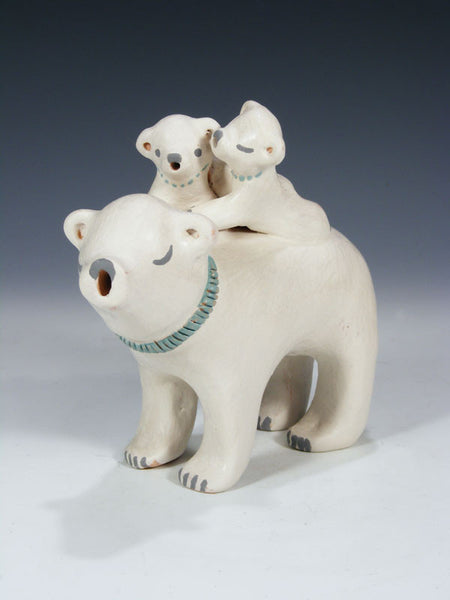 Isleta Pueblo Polar Bear Family by Stella Teller - PuebloDirect.com - 1