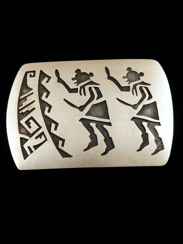 Old Pawn Indian Sterling Silver Buckle by Vintage Jewelry - PuebloDirect.com