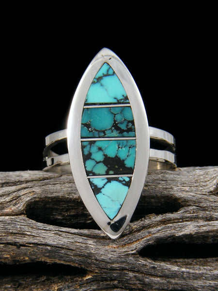 Turquoise Zuni Inlay Ring, Size 9 1/2