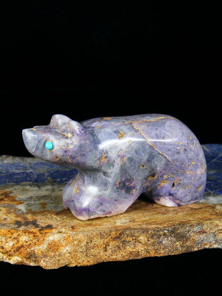 Fluorite Bear Zuni Fetish