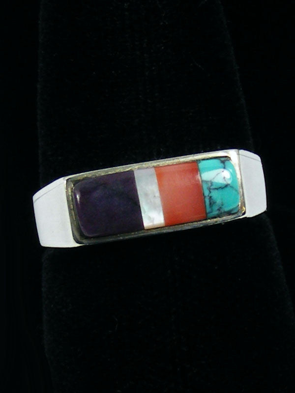 Inlay Ring by Jimmy Poyer - PuebloDirect.com