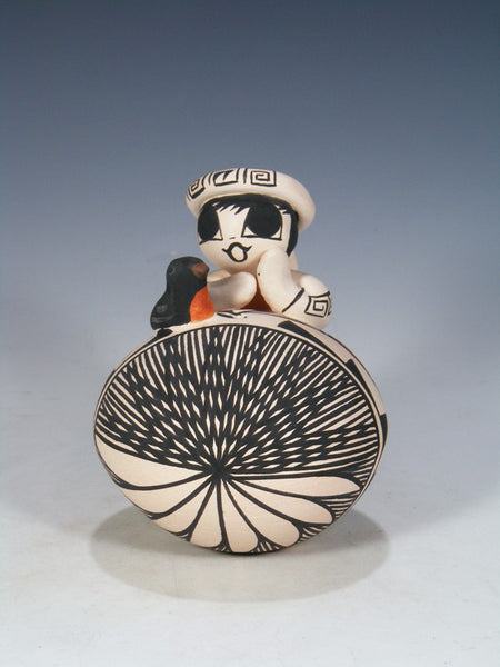 Acoma Pueblo Hand Made Pottery Storyteller