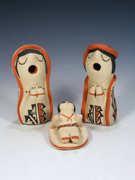 3 Piece Jemez Pueblo Pottery Nativity Set