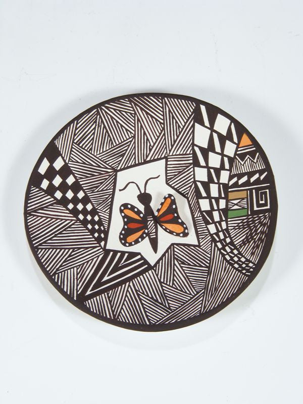 Acoma Pueblo Pottery Plate by Carolyn Concho - PuebloDirect.com