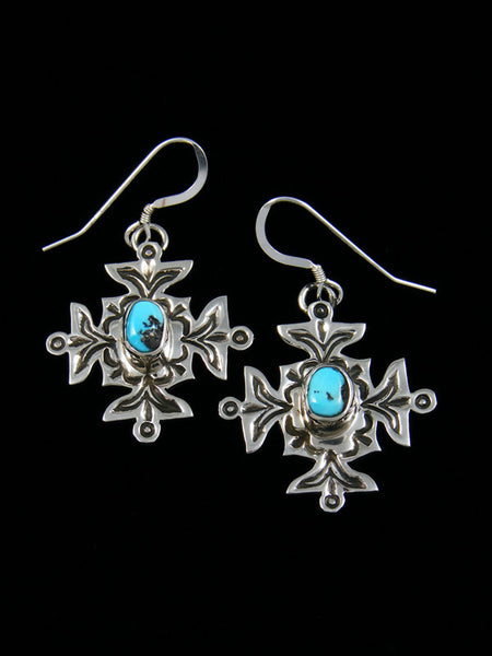 Sterling Silver Dangle Kingman Turquoise Earrings
