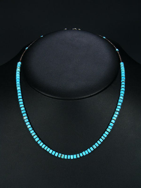 Native American Turquoise and Shell Heishi Necklace