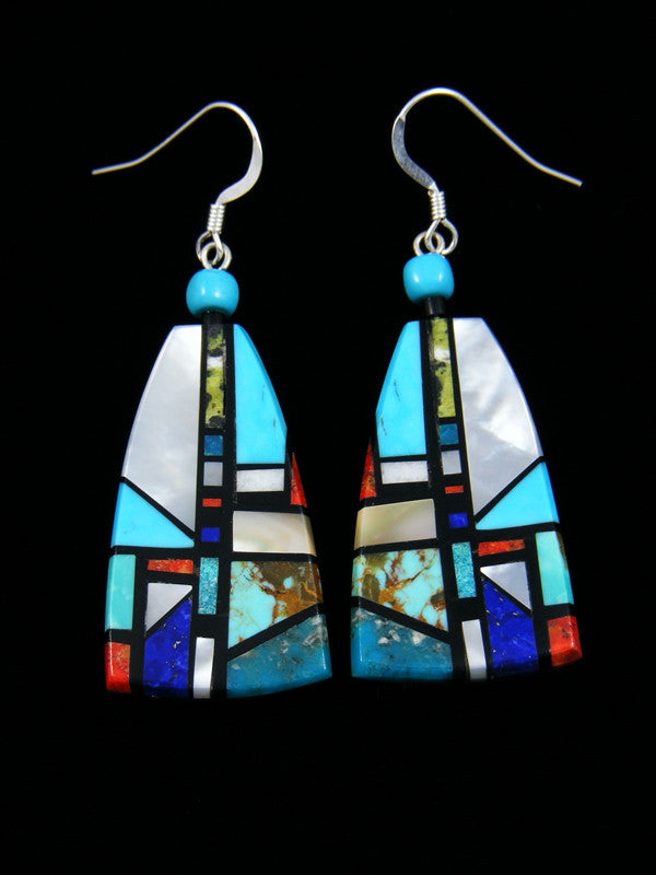 Santo Domingo Inlay Dangle Earrings