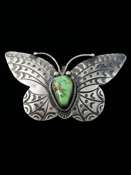 Estate Native American Jewelry Turquoise Butterfly Pendant