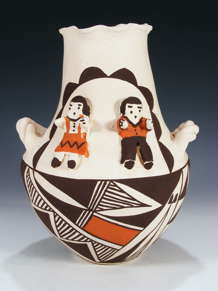 Acoma Pueblo Storyteller Pottery by Regina Leno - PuebloDirect.com - 1