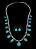 Turquoise Mountain Tear Drop Necklace Set