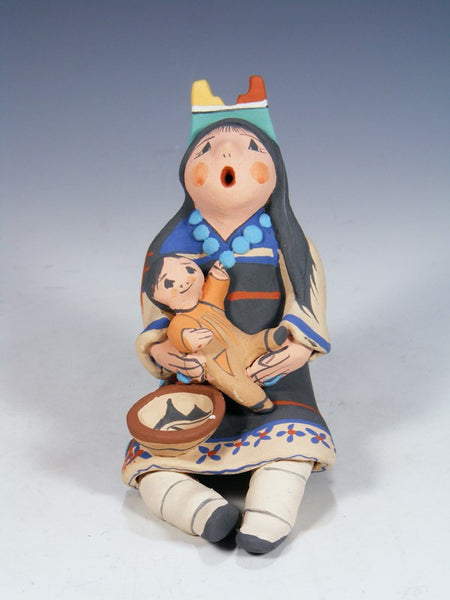 Jemez Pueblo Pottery Mother and Child Storyteller