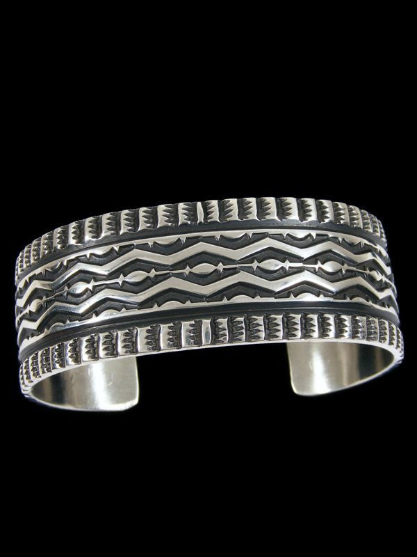 Native American Indian Jewelry Sterling Silver Bracelet by Sunshine Reeves - PuebloDirect.com - 1
