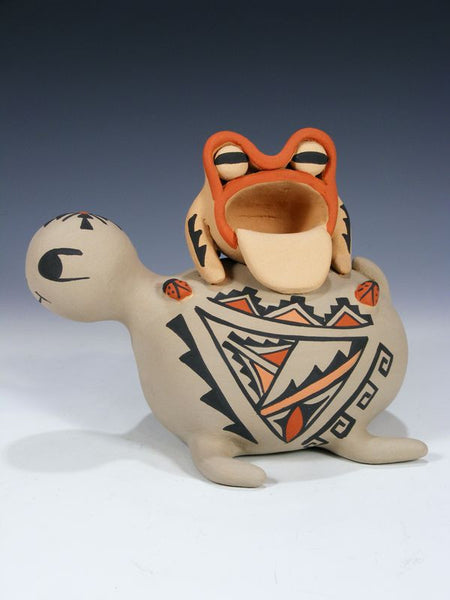 Jemez Pueblo Turtle and Frog Pottery by Chrislyn Fragua - PuebloDirect.com - 1