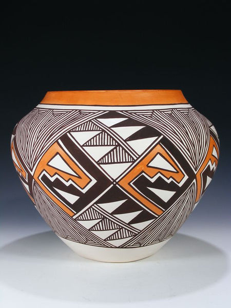 Acoma Pueblo Hand Coiled Pottery by Edward Lewis III - PuebloDirect.com - 1