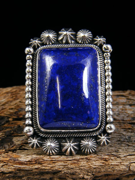 Bright Blue Lapis Ring, Size 9 1/2