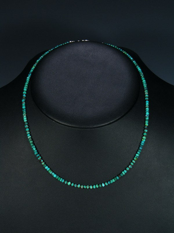 Native American Turquoise and Heishi Choker Necklace