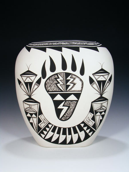 Acoma Pueblo Bear Claw Hand Coiled Pottery