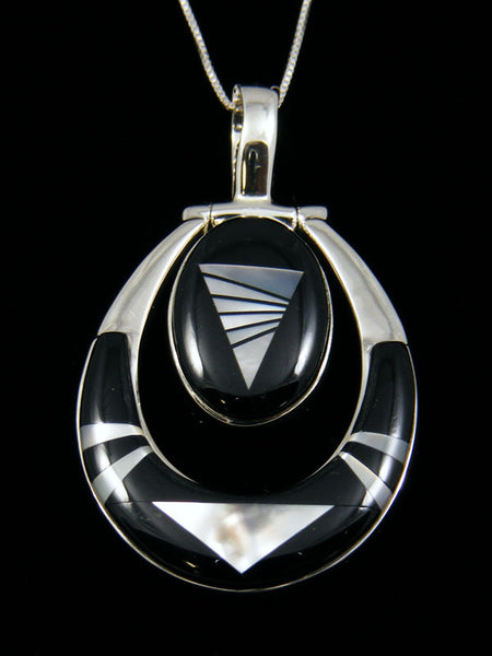 Inlay Pendant by Calvin Begay - PuebloDirect.com