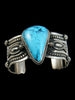 Native American Indian Jewelry Turquoise Bracelet by Darrell Cadman - PuebloDirect.com - 3