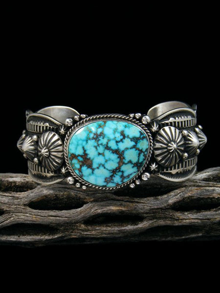 Native American Kingman Turquoise Bracelet by Gene Natan - PuebloDirect.com - 1