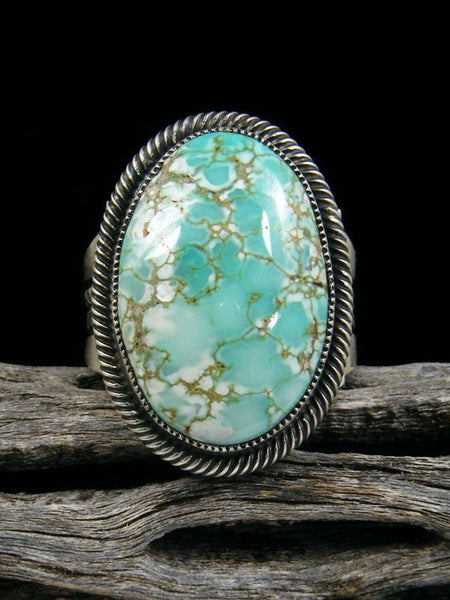 Number 8 Turquoise Ring by Leon Martinez - PuebloDirect.com - 1