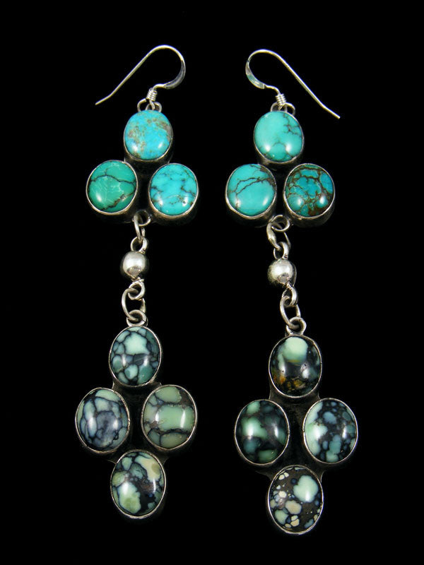 New Lander Variscite Earrings by Delbert Delgarito - PuebloDirect.com