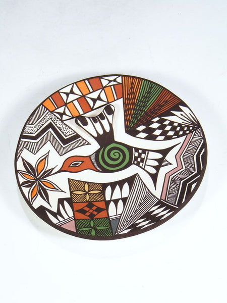 Acoma Pueblo Pottery Plate by Carolyn Concho - PuebloDirect.com - 1