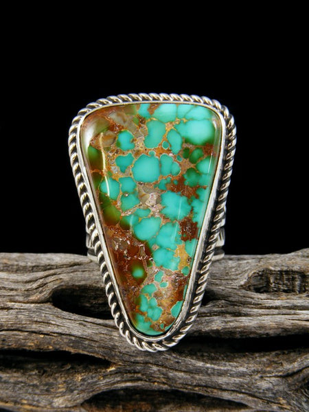Adjustable Natural Royston Turquoise Ring, Size 9+