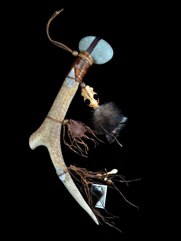 Native American Indian Antler Spirit Tomahawk
