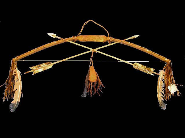 Antler Bow and Arrow Artifact by Navajo Artist - PuebloDirect.com