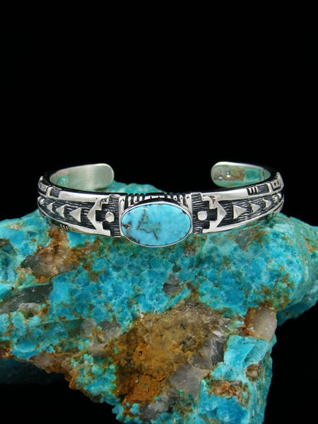 Native American Dry Creek Turquoise Cuff Bracelet
