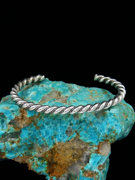 Large Sterling Silver Twisted Rope Horse Whisperer Bracelet
