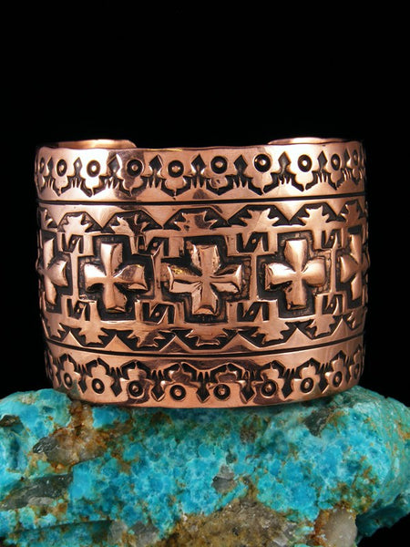 Native American Indian Jewelry Copper Cross Bracelet
