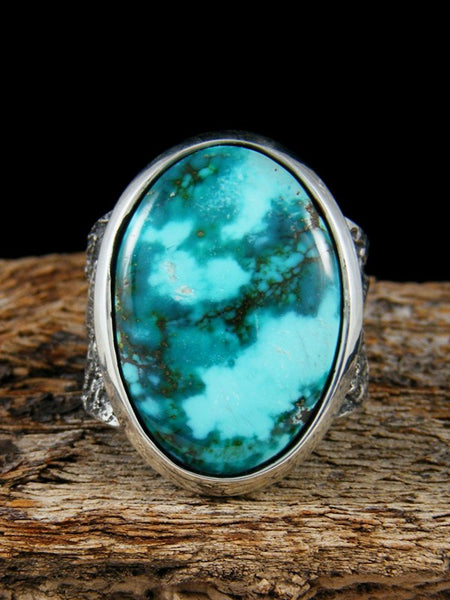 Navajo Tufa Cast Sierra Nevada Turquoise Ring Size 9
