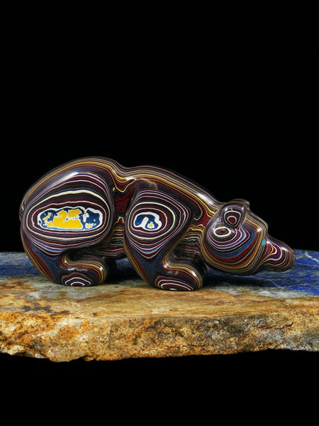 Fordite Bear Zuni Fetish