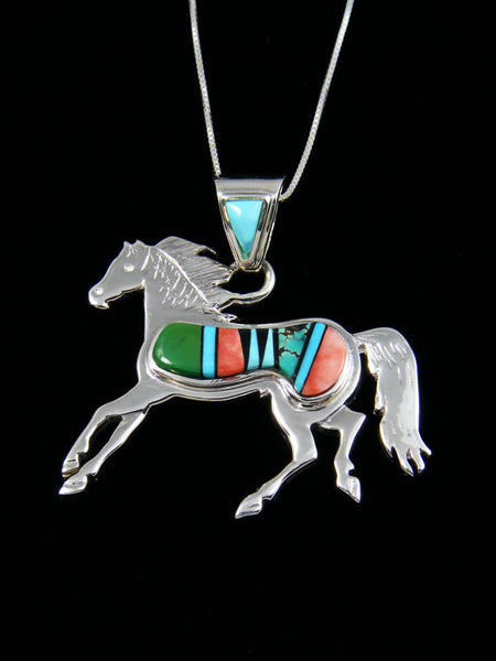 Inlay Horse Pendant