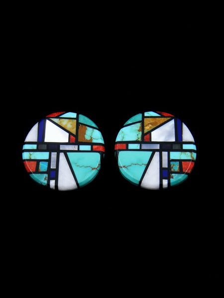 Santo Domingo Inlay Turquoise Post Earrings