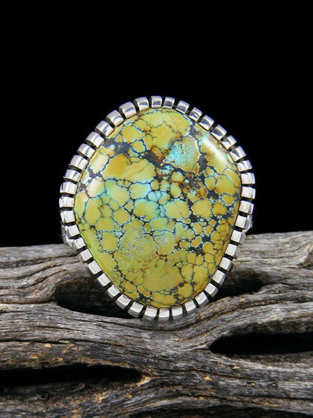 Blue Moon Turquoise Ingot Ring, Size 7