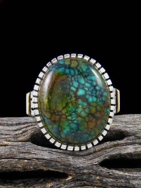 Blue Moon Turquoise Ingot Ring, Size 8