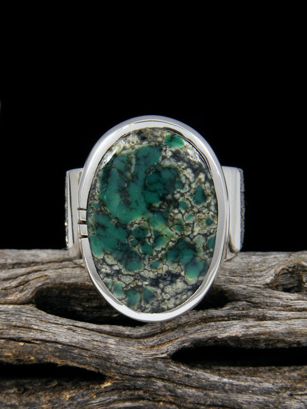 Natural Happy Variscite Ingot Ring, Size 7.5