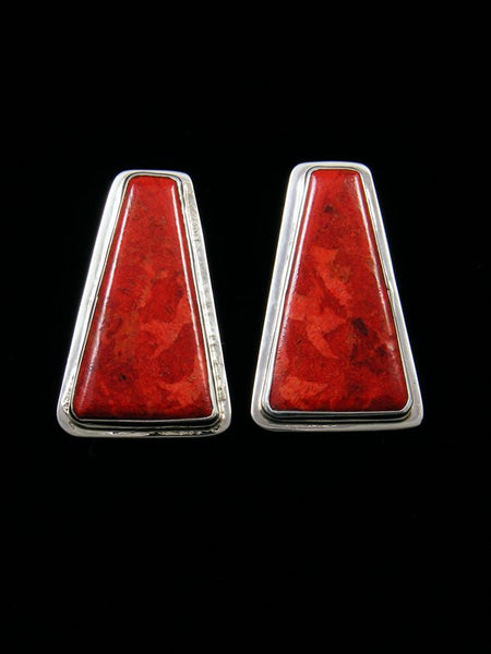 Apple Coral Santo Domingo Post Earrings