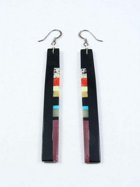 Santo Domingo Inlay Black Jet Earrings