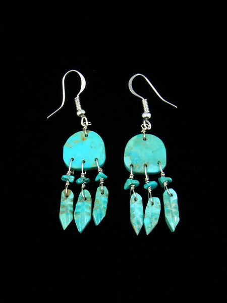 Navajo Turquoise Dreamcatcher Earrings