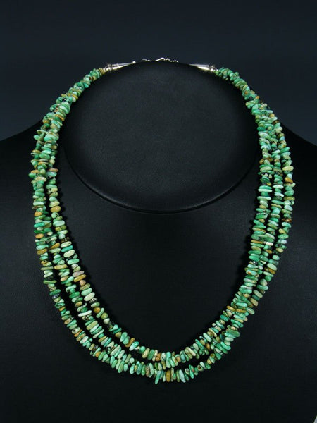 Native American Indian Jewelry Triple Strand New Lander Variscite Necklace